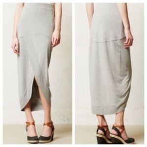 Anthropology | Bordeaux Grey Tulip Maxi Skort